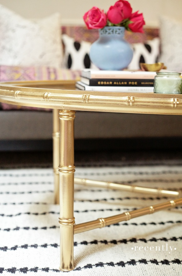 The gold color and detailing of this coffee table are so perfect I could scream - this has to be in my home one day!